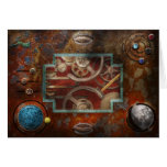 Steampunk - caja de Pandora Tarjeta