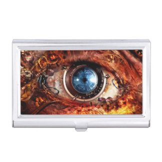 Steampunk Camera Eye Business Card Holder