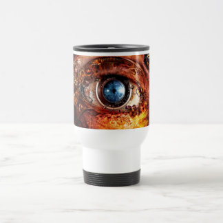 Steampunk Camera Eye Travel Mug