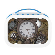 Steampunk can you sea the funny gecko lunch box
