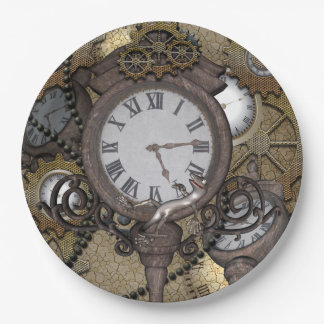 Steampunk  can you sea the funny gecko paper plate