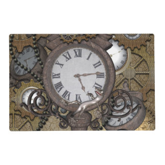 Steampunk  can you sea the funny gecko? placemat