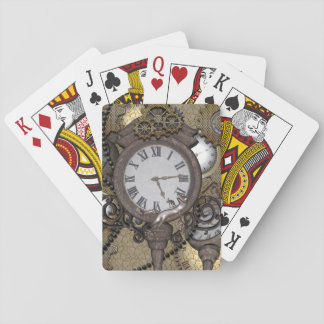 Steampunk  can you sea the funny gecko playing cards