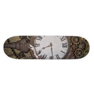 Steampunk can you sea the funny gecko skateboard