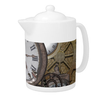 Steampunk  can you sea the funny gecko teapot