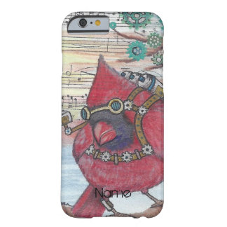 Steampunk Cardinal Spy Bird Art Print Barely There iPhone 6 Case