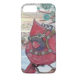 Steampunk Cardinal Spy Bird Art Print iPhone 7 Case