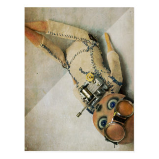 steampunk cards post card