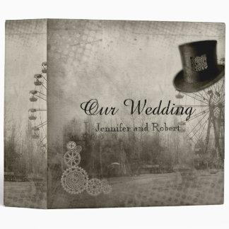 Steampunk Carnival Top Hat Wedding Binder