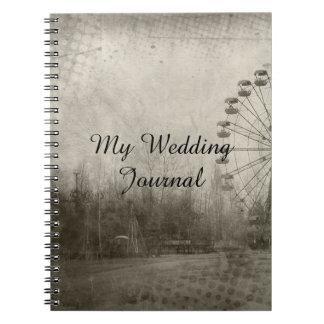 Steampunk Carnival Top Hat Wedding Journal