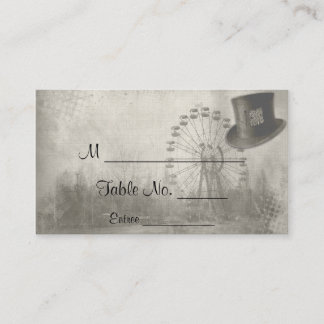 Steampunk Carnival Top Hat Wedding Place Cards
