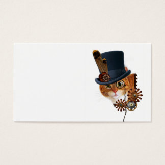 Steampunk Cat Business Card