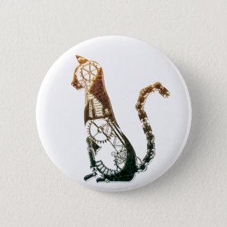 Steampunk cat button