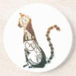 Steampunk cat coaster
