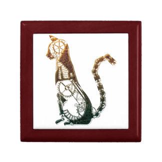 Steampunk cat giftbox jewelry box