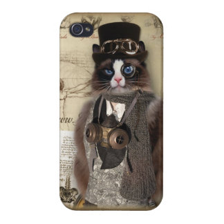Steampunk Cat iPhone 4/4S Cases