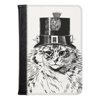 Steampunk Cat Kitty in a Top Hat Kindle Case