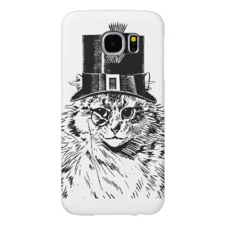 Steampunk Cat Kitty in a Top Hat Samsung Galaxy S6 Case