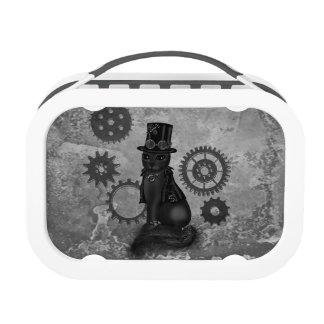 steampunk cat lunch box