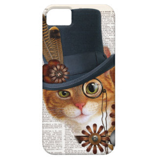 Steampunk Cat on Dictionary Page iPhone SE/5/5s Case
