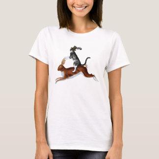 Steampunk Cat Riding A Rabbit T-Shirt