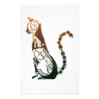 Steampunk cat stationary stationery