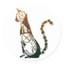 Steampunk cat stickers