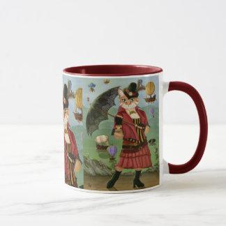 Steampunk Cat Victorian Gothic Fantasy Art Mug