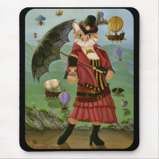 Steampunk Cat Victorian Gothic Fantasy Mousepad