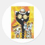 Steampunk Cats.jpg Pegatina Redonda