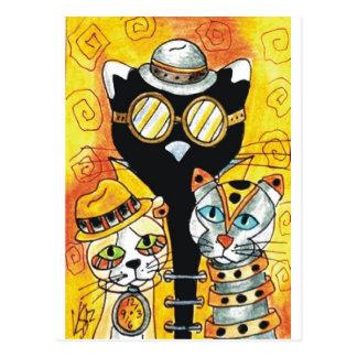 Steampunk Cats.jpg Postcard
