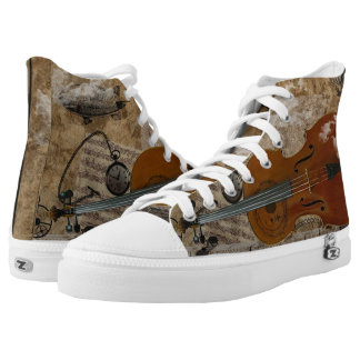 Steampunk Cello Suite High-Top Sneakers