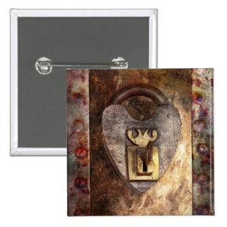 Steampunk - cerrajero - la llave a mi corazón pin cuadrado