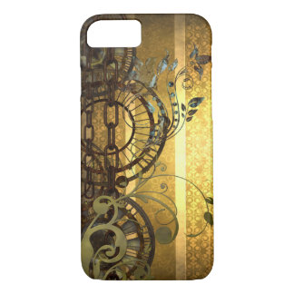 Steampunk Chains and Florals iPhone 7 Case