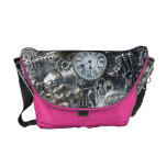 Steampunk charms commuter bag