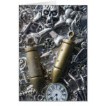 Steampunk charms greeting cards