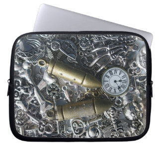 Steampunk charms laptop sleeve