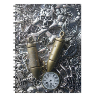 Steampunk charms notebook