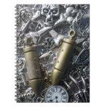 Steampunk charms spiral notebook