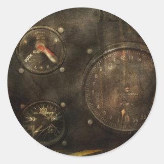 Steampunk - Check your pressure Classic Round Sticker