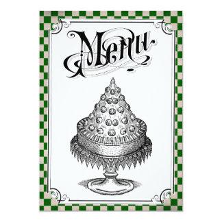 Steampunk Checkerboard Wedding Menu Cards Personalized Invites