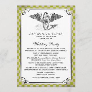 Steampunk Checkerboard Wedding Programs