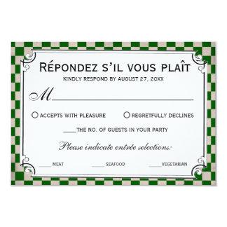Steampunk Checkerboard Wedding RSVP Cards