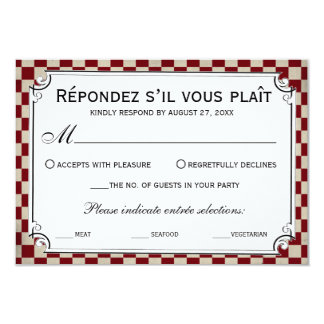 "Steampunk Checkerboard Wedding RSVP Cards 3.5"" X 5"" Invitation Card"