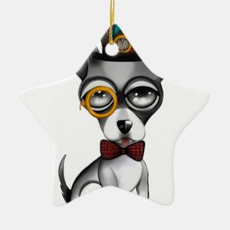 Steampunk Chihuahua Art Ceramic Ornament