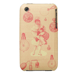 steampunk christmas girl with gifts iPhone 3 case