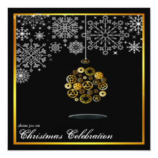 steampunk christmas party invitation