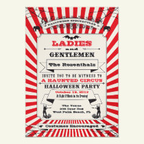 Steampunk Circus Halloween Party Invitation