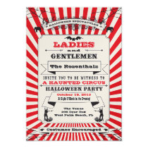 Steampunk Circus Halloween Party Invitation