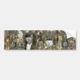 Steampunk City Bumper Sticker